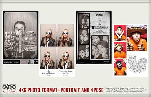 Large format photobooth photo strips photomatic portrait style