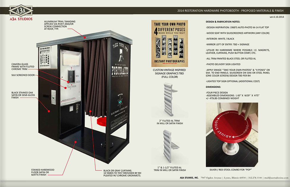 Restoration Hardware USA Photo Booth Des