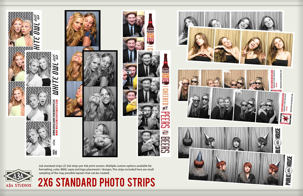 custom phobooth strips with your logo or old school