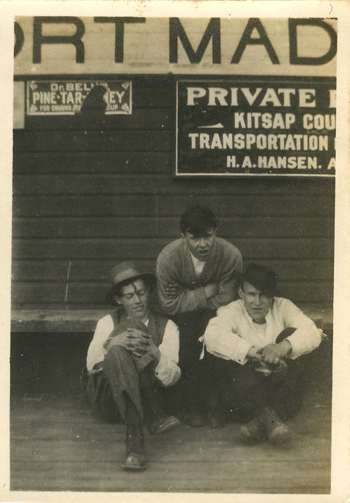 Early Advertising Men At Depot