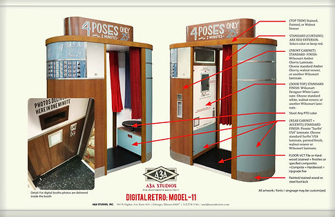 M11 Model-11 1950s style custom photobooth finish optios