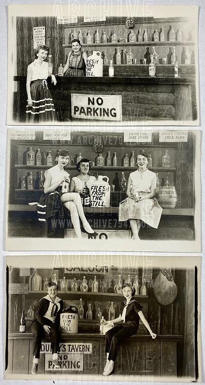 Chicago Riverview Park 1954 RPPC Arcade Photo Set (x3)