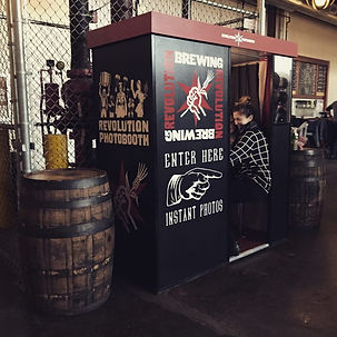 M21 Analog Vintage Photobooth For Revoluion Brewery In Chicago Custom Branded