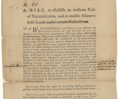 White Supremacy, Racism in Form: Naturalization Act of 1790