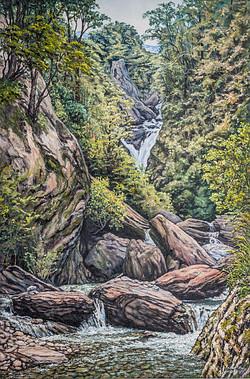 Neck Creek Falls, Lake Hawea.NZ