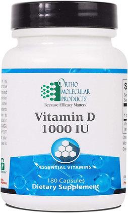 Ortho Molecular Products Vitamin D3-1000 IU - 180 Capsules
