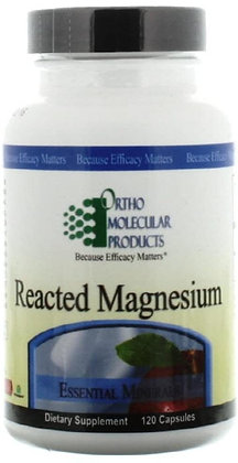 Ortho Molecular Products Reacted Magnesium- 120 Capsules