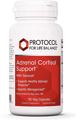 Protocol For Life Balance Adrenal Cortisol Support - 90 Veg Capsules