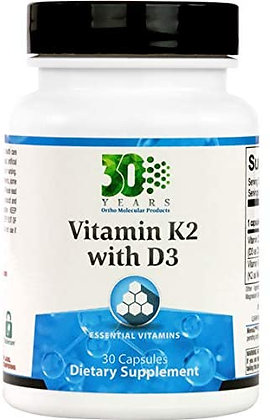 Ortho Molecular Products Vitamin K2 with D3 - 30 Capsules