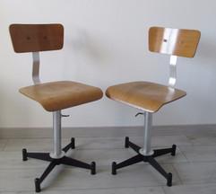 Restauration complète chaise industriel