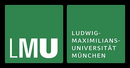 Logo da Universidade de Munique Ludwig-Maximilians (LMU). São dois quadrados verde-escuros, colocados lado a lado, sobre os quais lê-se o nome da instituição em branco. Estão aqui porque Áureo foi entrevistado pela universidade.