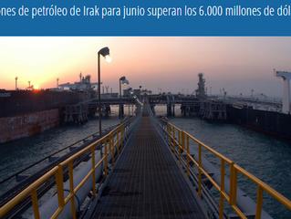 Exportaciones de petróleo de Irak para junio superan los 6.000 millones de dólares