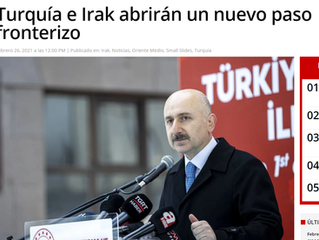 Turquía e Irak abrirán un nuevo paso fronterizo