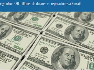 Irak paga otros 380 millones de dólares en reparaciones a Kuwait