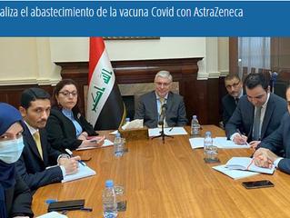 Irak analiza el abastecimiento de la vacuna Covid con AstraZeneca