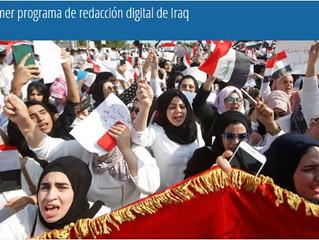 El primer programa de redacción digital de Iraq