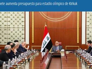 Gabinete aumenta presupuesto para estadio olímpico de Kirkuk