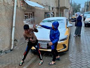 En fotos: la nevada en Irak, un fenómeno que no se registraba hacía 10 años