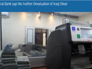 El Banco Central dice que no habrá más devaluación del dinar iraquí