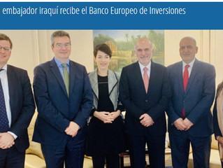 El embajador iraquí recibe el Banco Europeo de Inversiones