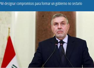 Nuevo Primer Ministro Iraki designa compromisos para formar un gobierno no sectario