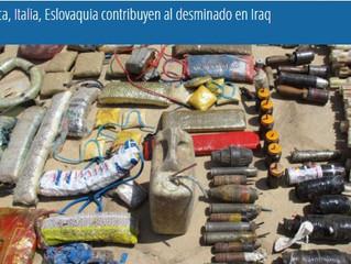 Bélgica, Italia, Eslovaquia contribuyen al desminado en Iraq