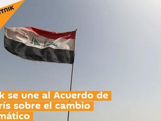 Irak se une al Acuerdo de París sobre el cambio climático EL CAIRO