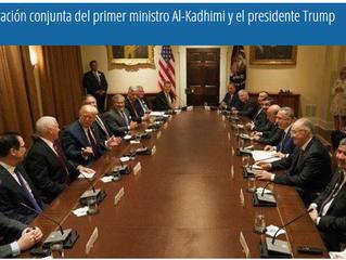 Declaración conjunta del primer ministro Al-Kadhimi y el presidente Trump