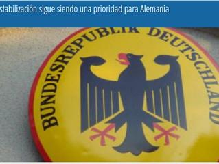 La estabilización sigue siendo una prioridad para Alemania