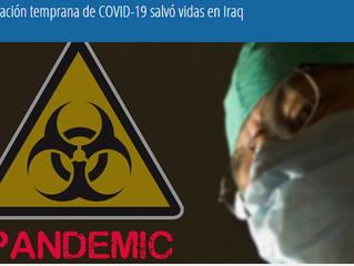 La preparación temprana de COVID-19 salvó vidas en Iraq