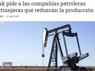 Irak pide a las compañías petroleras extranjeras que reduzcan la producción