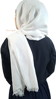 Hijab Pashmina avec franges courtes