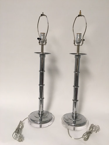 Chrome Plated Brass Table Lamps