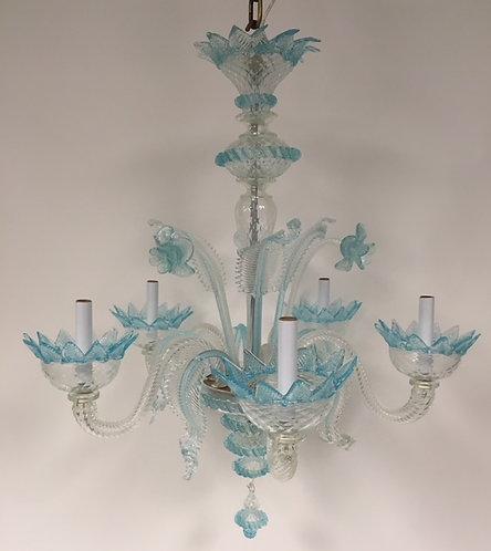 G.B. Murano Seafoam vintage chandelier.