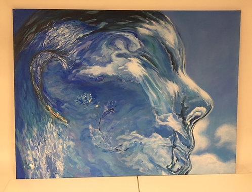 Katie Turk Acrylic Liquid Blue
