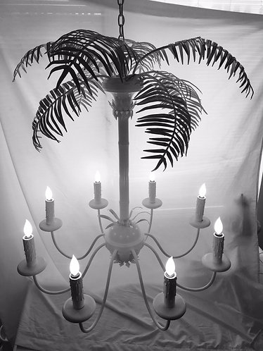 Large Palm Tree 8 Light Chandelier