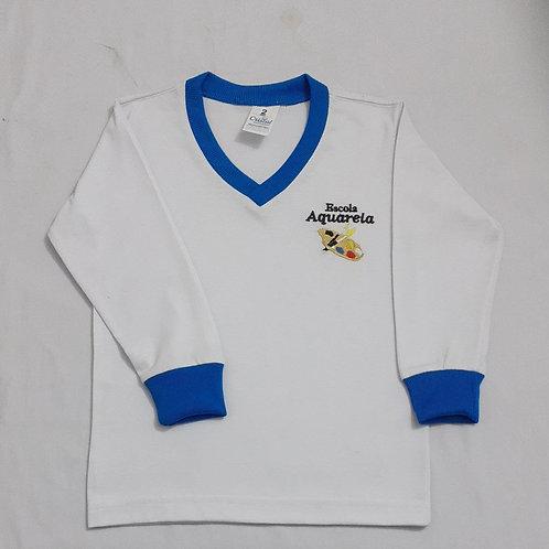 Camiseta Manga Longa Escola Aquarela