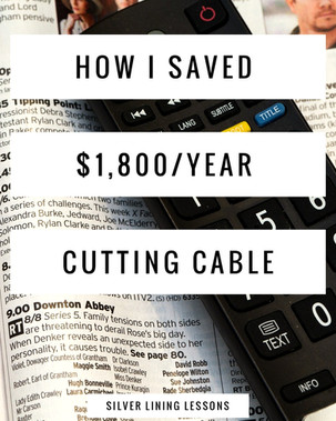 How I Saved $1,800/year Cutting Cable