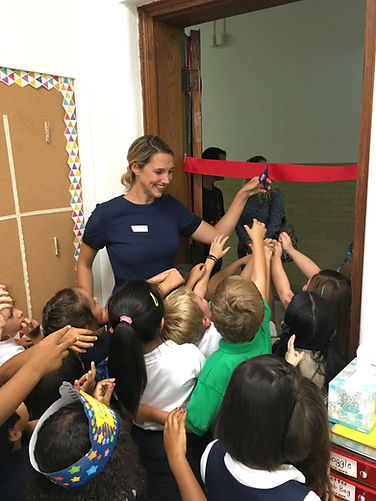 new magnet ribbon cutting 1st grade clas