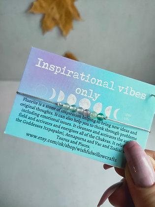 Inspirational Vibes Only Fluorite Bracelet WIW