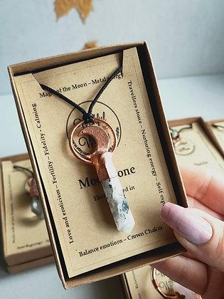 Rainbow Moonstone necklace WIW