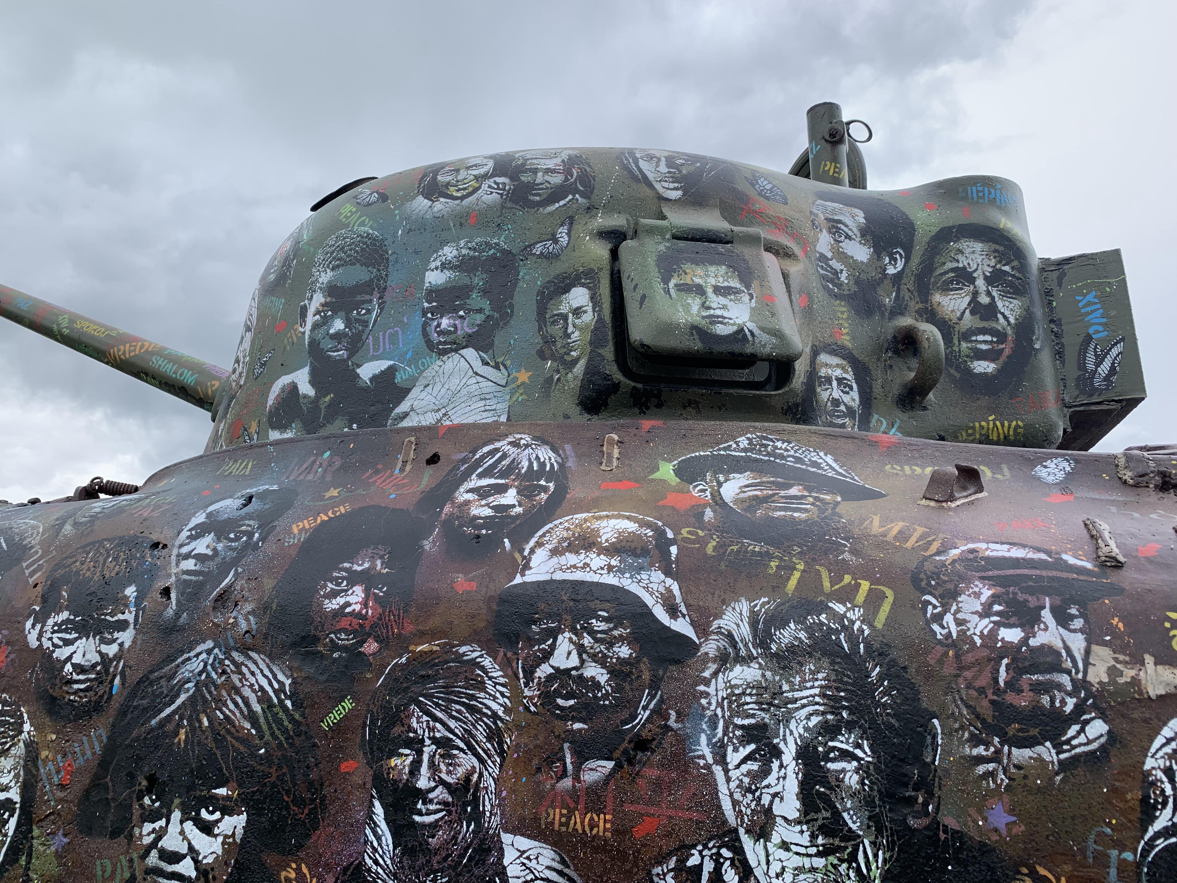 Street art tank