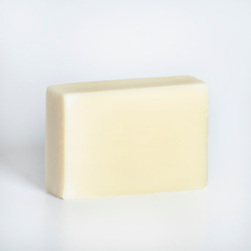 Coconut soap bar, made with certified organic ingredients, including tea tree essential oil
