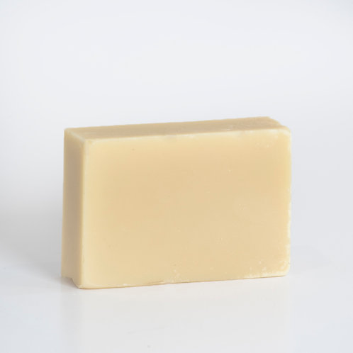 Goats Milk soap bar, made with certified organic ingredients, including ylang ylang essential oil