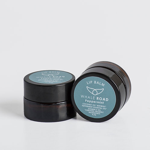 Peppermint lip balm. Certified organic ingredients,  Soothing, moisturizing, feels fresh and clean