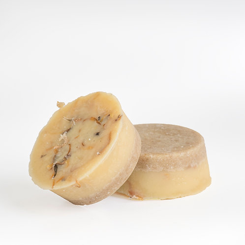cocoa butter bath melt, certified organic ingredients, incl. Ylang Ylang for glowing skin