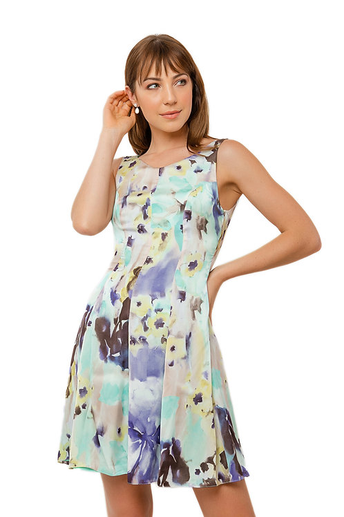 Vestido Curto Aquarela
