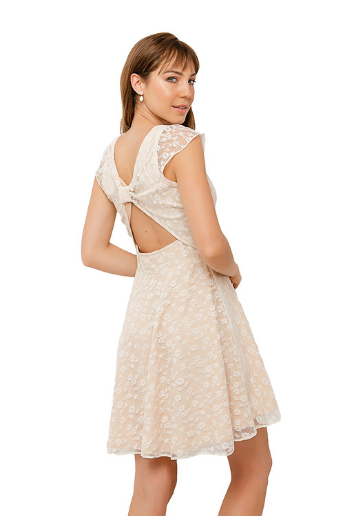 Vestido Laço Off White