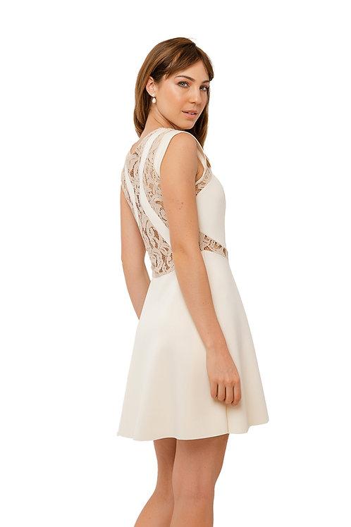 Vestido Neoprene Off White