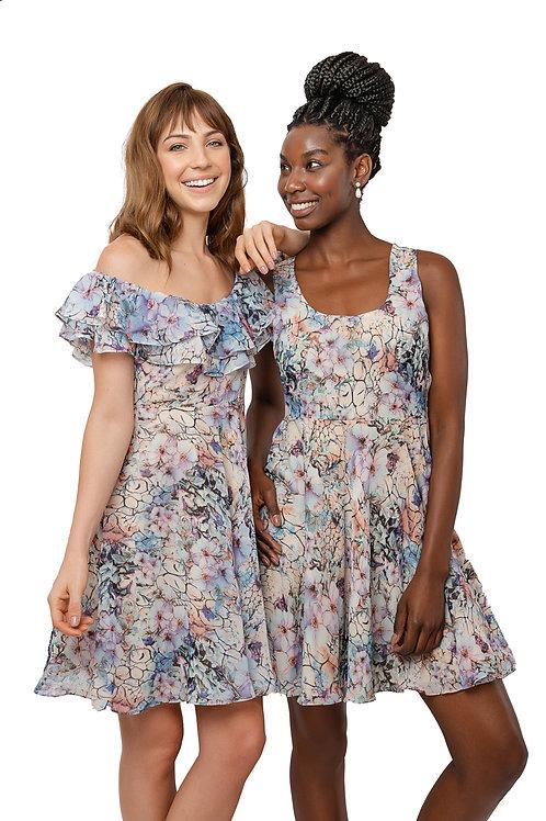 Vestido Monet Regata